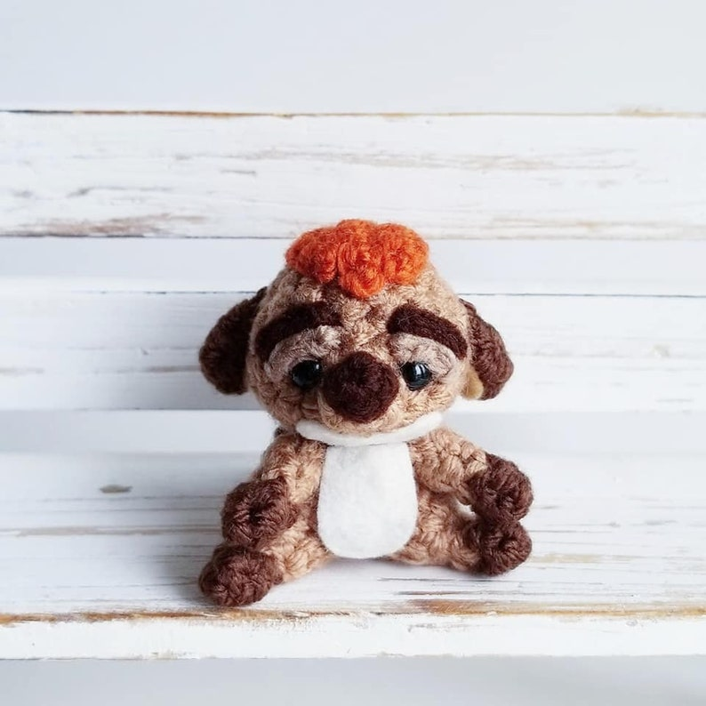 PDF  Crochet Amigurumi Pattern  Timon  Lion King  Disney