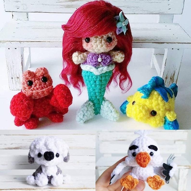 How to crochet little mermaid doll #1 - YouTube | 794x794