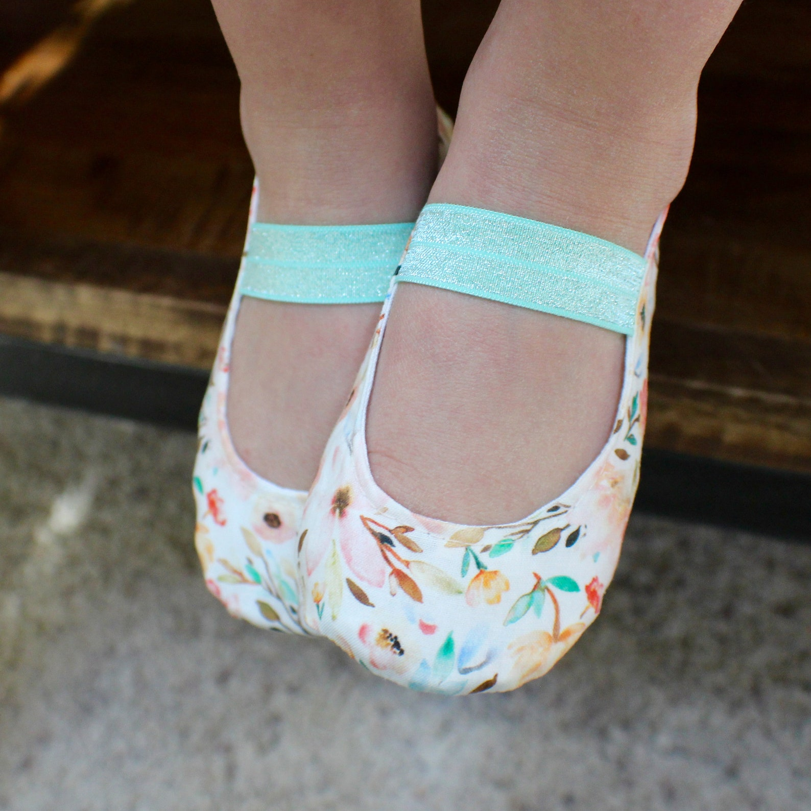 watercolor floral baby girl shoes - ballet flats - toddler girl shoes - princess shoes
