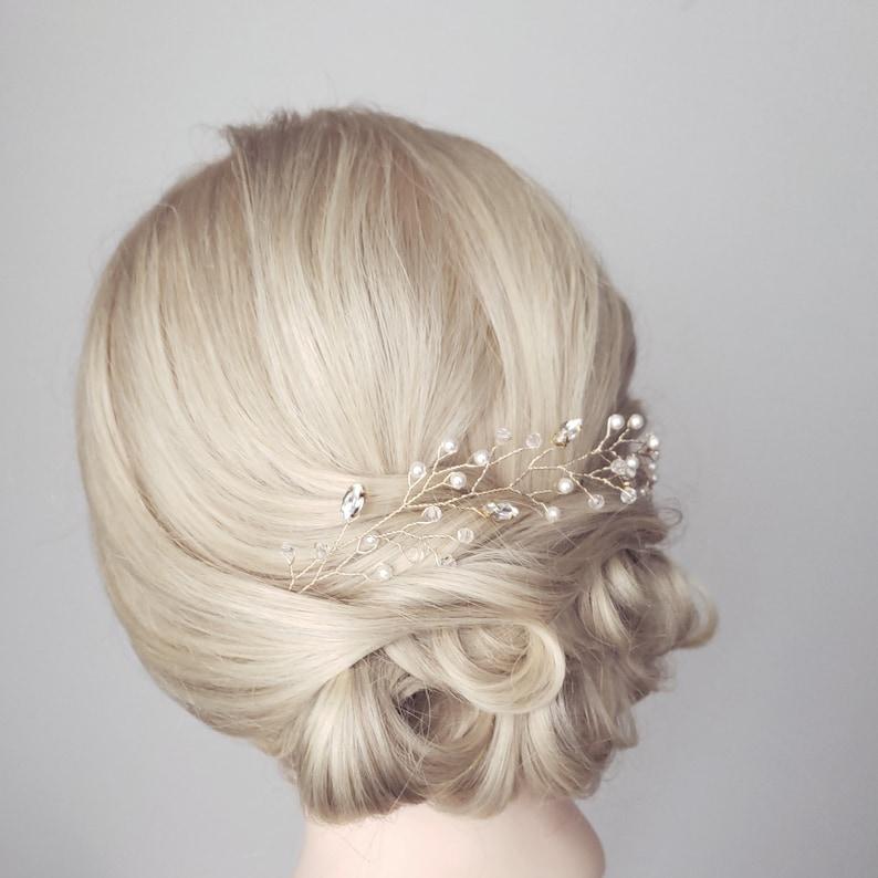 Bridal Headband Bridal Hair Vine Pearl Hair Vine Bridal Tiara Wedding Hairpiece Silver Hair Vine Wedding Headband