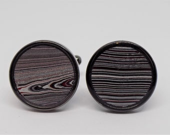 Fordite cufflinks ideal gift for xmas