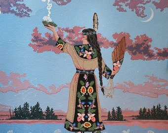 Greeting Cards - Packet of 3 Art Cards - Agwamo (She Who Walks on Water)