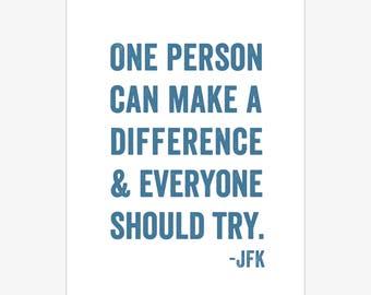 Jfk Quote Etsy