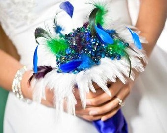 Crystal Bouquet - Brooch Bouquet - Wedding Bouquet - Bridal Bouquet - Feather Bouquet - Broach Bouquet - Keepsake Bouquet - Deposit