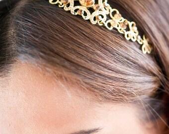 Bridal Headband - Bridal Headpiece - Crystal Headband - Crystal Headpiece - Wedding Headband - Wedding Headpiece - Prom Headband - SOPHIA