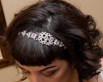Wedding Headband - Wedding Headpiece - Bridal Headband - Bridal Headpiece - Prom Headband - Crystal Headband - Crystal Headpiece -SOPHIA