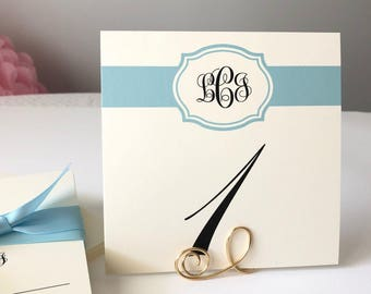 Wedding Table Number, Colorful Table Number, Personalized Table Number with Bride and Groom's Monogram, All of my Colors Available