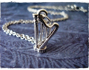 Fashion Jewelry Pewter Harmony Jewelry Harp Necklace