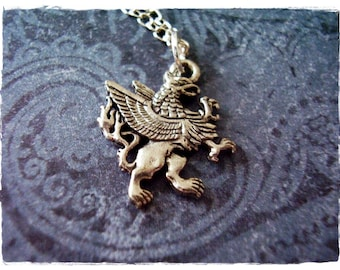 Coin Charm Griffin Charm Mythical Charm PS01202 Mystical Charm Sterling Silver Griffin Coin Charm
