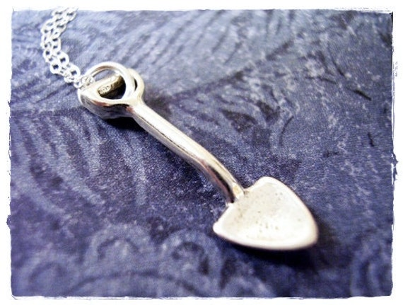 60pcs shovel Charms silver tone little shovel charm pendant 20X5mm