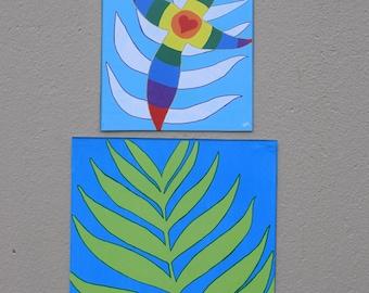Easter - Lent - Christian Art - Palm Sunday - Promise - Bible Verse - Cross - Rainbow - Romans - Isaiah