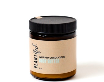 Whipped Cocolicious Body Butter. Moisturizing. Natural. Cocoa butter. shea butter. fair trade. organic.