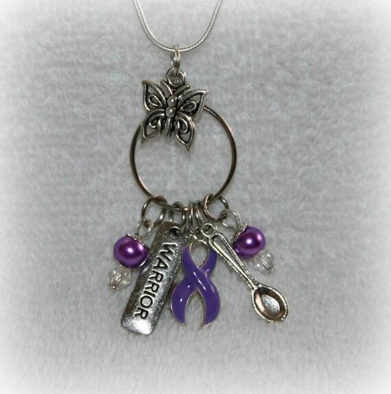 Warriors Orochi 3 Ultimate Blue Bar: Purple Ribbon Warrior Charm Necklace