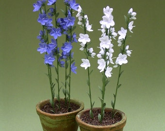 Campanula Paper Flower Kit for 1/12th scale Dollhouses, Florists and Miniature Gardens