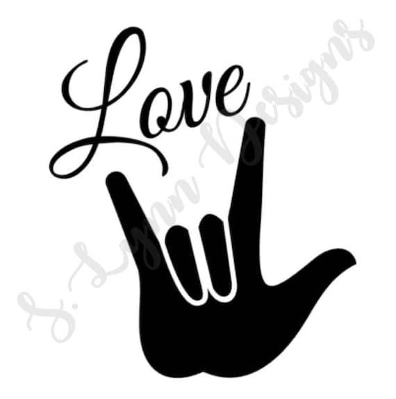 Asl Love Sign Svg Etsy
