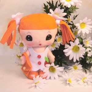Instant Digital Download-Art Doll Pattern PDF DIY  Doll  Girl Ginger   sewing  free shipping