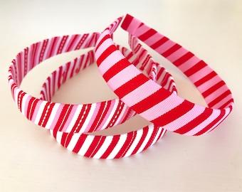 Preppy Stripe Valentine's Headbands