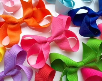 3 Pack- Large Solid Grosgrain Hair Bows