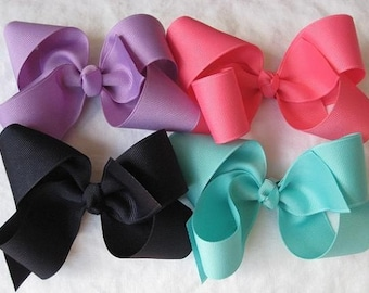10 Pack- Extra Large Grosgrain Hair Bows- Choose from over 40 colors