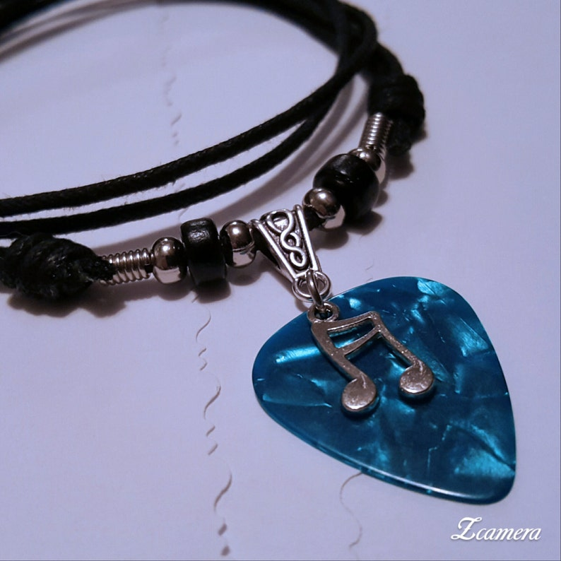 Guitar Pick Necklace  Music Necklace  Music Jewelry   Music image 0