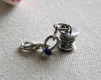 seamstress charm - planner charm - zipper pull - purse charm