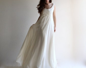 Princess wedding dress, empire wedding dress, lace wedding dress, medieval wedding dress, simple wedding dress, boho wedding dress, aline