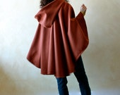Hooded cape, Wool cape, Women cape, Winter cape, Hooded cloak, Wool cloak, Poncho, Women clothing, Maternity clothes, plus size, black cape