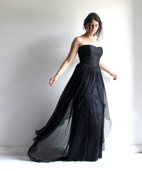 Schwarz Hochzeit Kleid Schwarzes Kleid Gothic Brautkleid Etsy