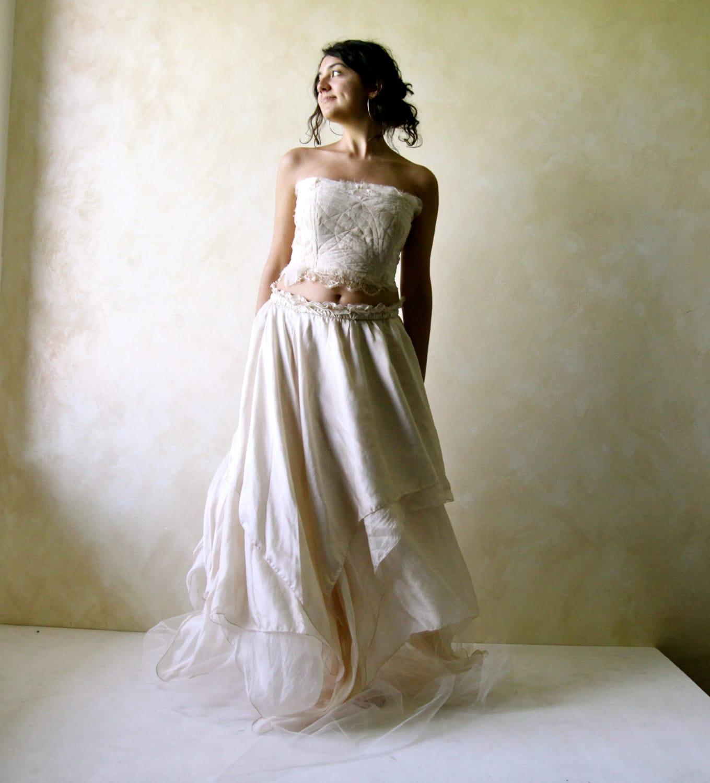 robe de mariage de boho hippie f e robe de mari e robe de. Black Bedroom Furniture Sets. Home Design Ideas