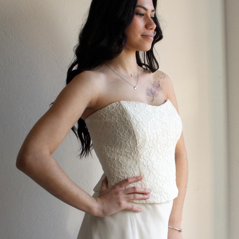 d3287a39591 Lace Wedding top lace corset Bridal corset lace top corset