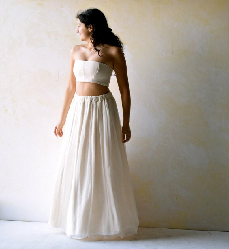 06c0ad361c Beach Wedding Dress Two pieces dress Alternative Wedding | Etsy
