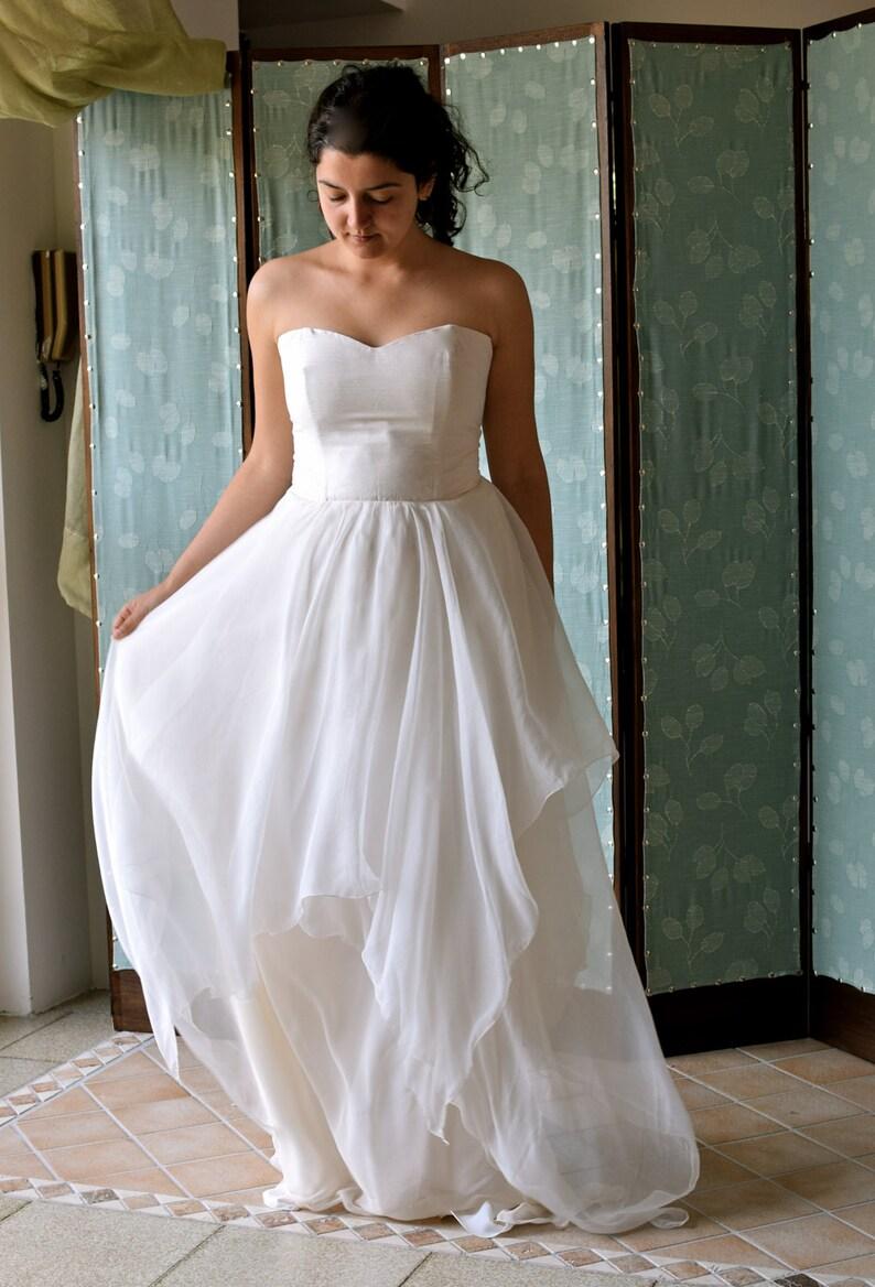 promo code 5a26c ef8fa Brautkleid, Boho Brautkleid, Brautkleid Fee, Seide Hochzeit Kleid, Frothy  Hochzeit, alternative Hochzeitskleid, Brautkleid