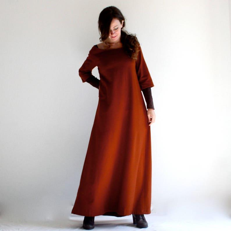 c802a6f9 Sukienka zimowa, długa suknia, wełniana sukienka, sukienka średniowieczna,  sukienka tuniki, sukienka maxi, Boho sukienka, Woodland Odzież damska, ...