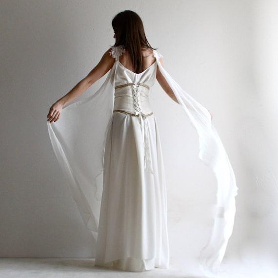 Wedding Dress Medieval wedding dress corset wedding dress | Etsy