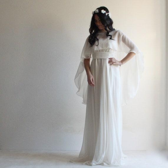 Chiffon Capelet Sheer Cover-up Wedding Bolero Bridal Cape Various Color Shawls