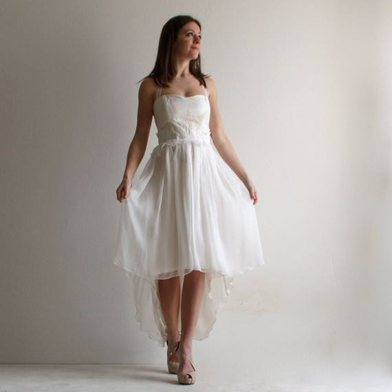 High Low Wedding Dress Beach Wedding Dress Alternative Dress Rehearsal Dress Reception Wedding Dress Short Wedding Dress Boho Dress