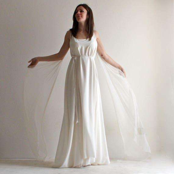Brautkleid Boho Brautkleid Ethereal Hochzeit Kleid Tunika | Etsy