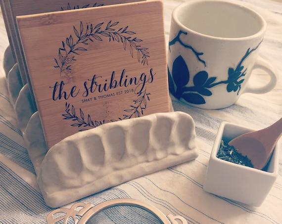 Engraved Coasters, Personalized Coasters, Custom Coasters, Wood Coasters, Bridal Shower Gift, Customized Coasters, Housewarming Gift