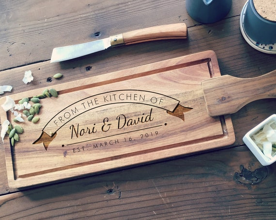 Personalized Cheese Board, Custom Engraved Serving Board, Wooden Bread Board, Tapas Cutting Board or Charcuterie Board
