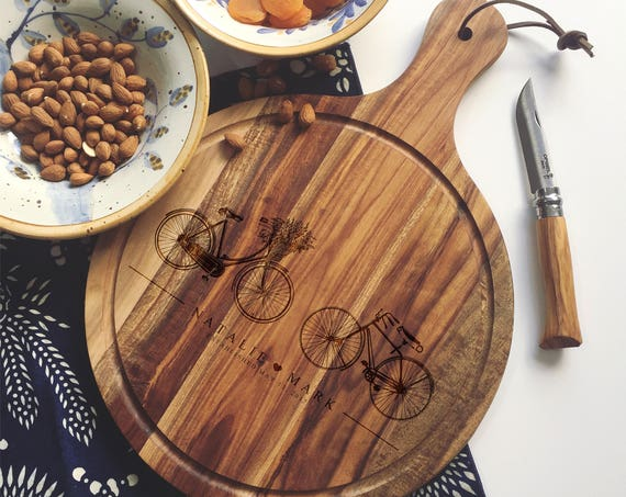 Custom Cutting Board, Personalized Charcuterie Board or Cheese Board for Wedding Gift, Engagement Gift, or Housewarming Gift