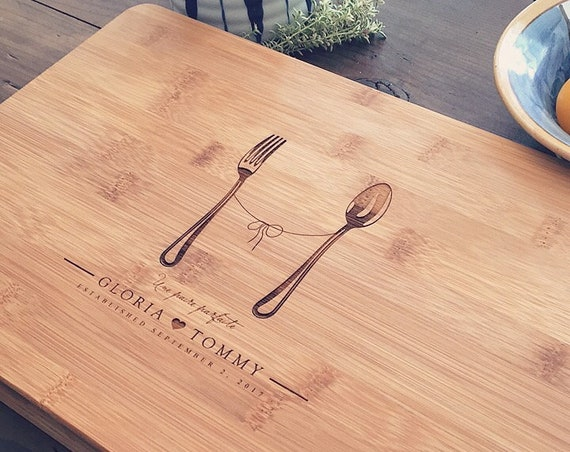 Custom Cutting Board / Personalized Butcher Block, Wedding Gift, Engagement Present, Bridal Shower Gift, Gifts for Couples