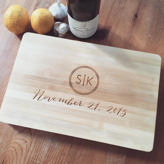 Customized Thick Chopping Block, Personalized Cutting Board, Custom Engraved Board, Monogram Cutting Board, Personalized Wedding Gift