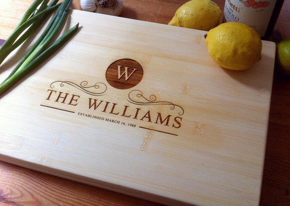Personalized Cutting Board, Wood Cutting Board, Custom Chopping Block for Wedding Gift, Housewarming Gift, Engagement Present