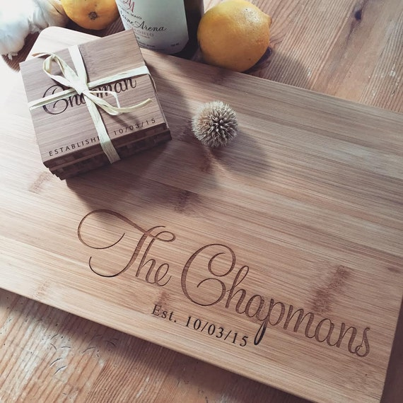 Custom Engraved Cutting Board / Personalized Cutting Board / Couple Cutting Board Wedding Gift / Custom Personalized Wedding Gift