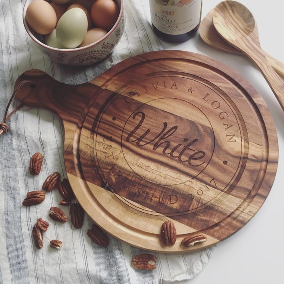 Custom Cutting Board, Personalized Charcuterie Board - Unique Wedding Gift, Bridal Shower Gift, or Engagement Present