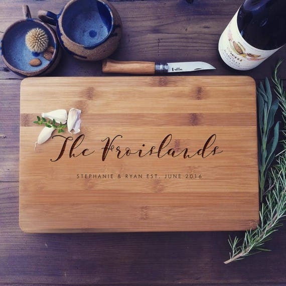 Personalized Cutting Board, Wood Cutting Board, Chopping Block, Wedding Gift, Housewarming Gift, Anniversary Gift, Couple Cutting Board