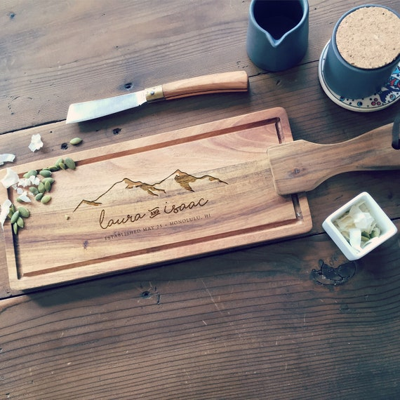 Custom Cheese Board, Personalized Charcuterie Board, Wooden Cutting Board, Engraved or Monogrammed Christmas Gift or Wedding Gift