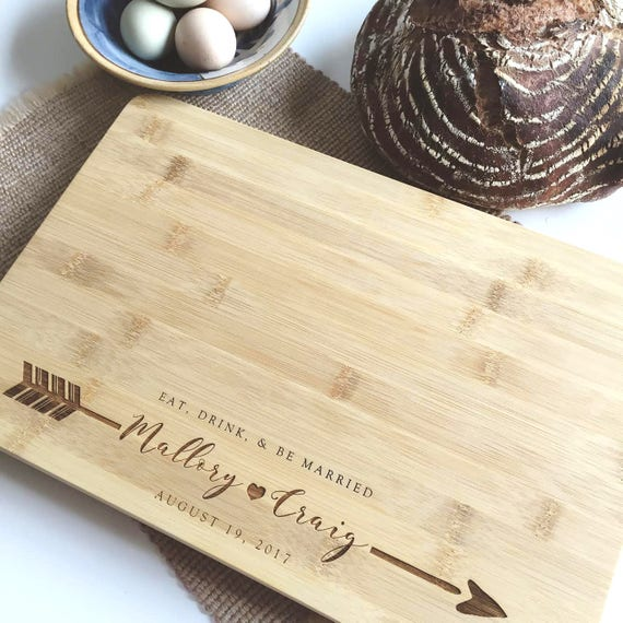 Personalized Butcher Block, Laser Engraved Chopping Board, Custom Cutting Board / Handmade & Personal Gift Idea