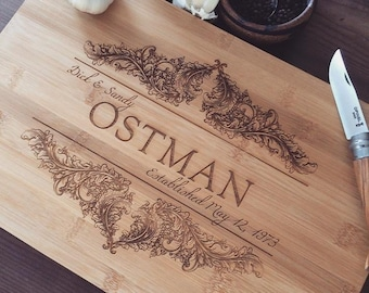 Personalized Cutting Board, Housewarming Gift, Wedding Gift Cutting Board, Custom Cutting Board, Gift For Couple, Engagement Gift