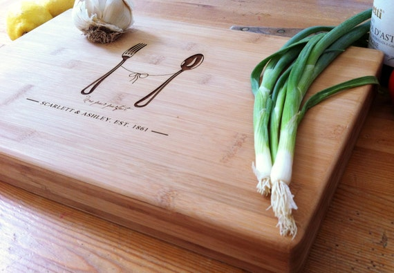 Custom Wood Chopping Board /  Personalized Butcher Block / Unique Wedding Gift, Closing Gift, or Hostess Gift